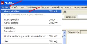 FTP Filezilla para subir archivos al servidor