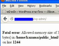 Error de memoria en Wordpress