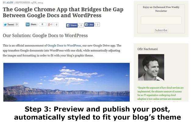 Publica directamente desde Google Drive