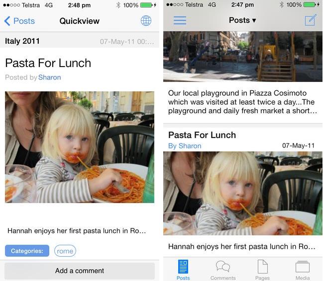 Una app móvil para WordPress